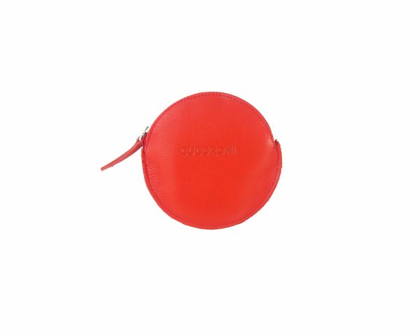 Monedero redondo rojo