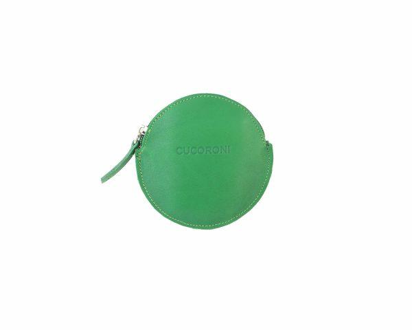 Monedero redondo verde