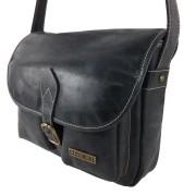 Bolso de cuero bolsillos vintage negro-2