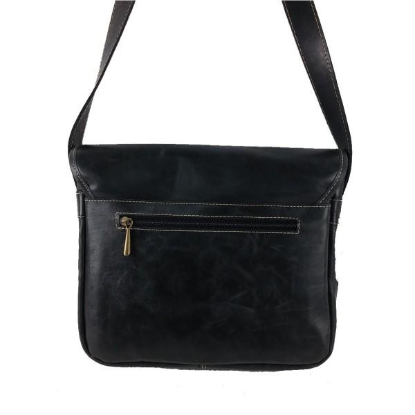 Bolso de cuero bolsillos vintage negro-1