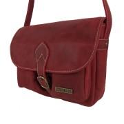 Bolso de cuero bolsillos vintage rojo-2