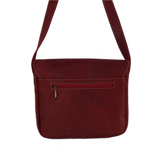 Bolso de cuero bolsillos vintage roja1