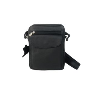 bolso de hombre bolsillo de piel negro