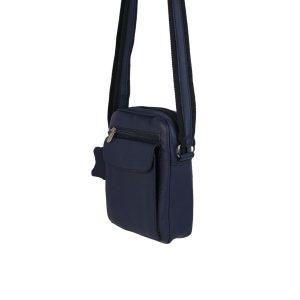 bolso de hombre de piel azul 2