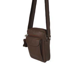 bolso de hombre de piel marrón 2