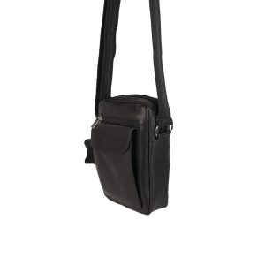 bolso de hombre de piel marrón oscuro 2