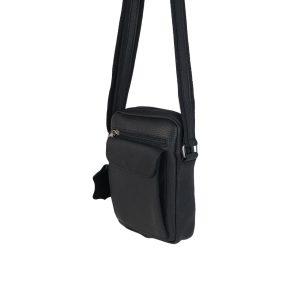 bolso de hombre de piel negro 2