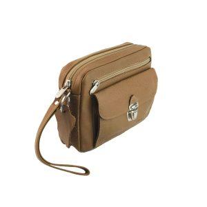 bolso de mano hombre de piel camel modelo bolsillo 2
