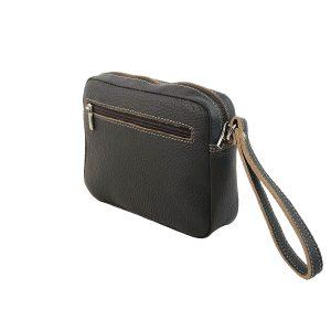 bolso de mano hombre de piel marron oscuro 2