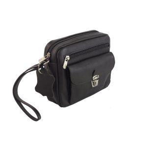 bolso de mano hombre de piel marron oscuro modelo bolsillo 2