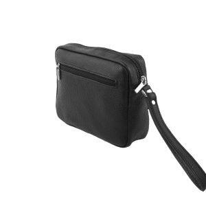 bolso de mano hombre de piel negro 2