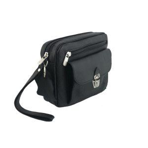 bolso de mano hombre de piel negro modelo bolsillo 1