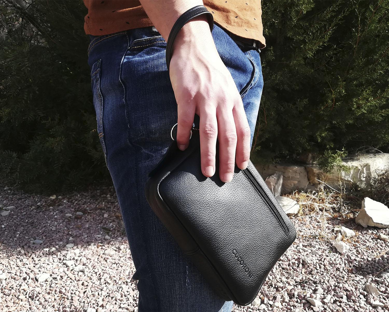 gran variedad de estilos imágenes detalladas llegando bolso de mano hombre de piel