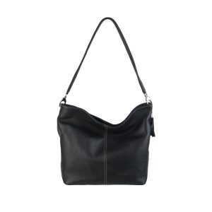 bolso de piel basic 503 negro, hecho en España