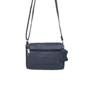 bolso de piel clasic mini azul marino