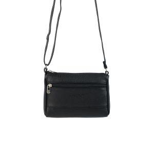bolso de piel clasic mini negro, hecho en España