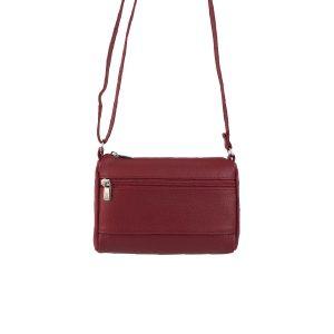 bolso de piel clasic mini rojo, hecho en España