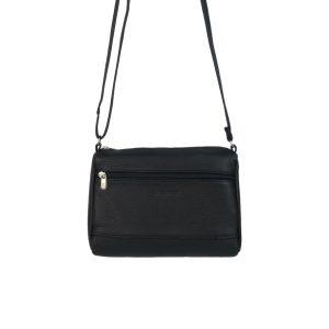 bolso de piel clasic negro, hecho en España