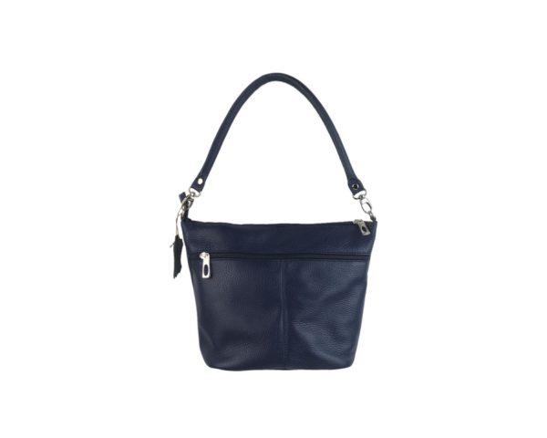 bolso de piel cubo azul 1