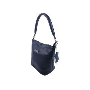 bolso de piel cubo azul 2