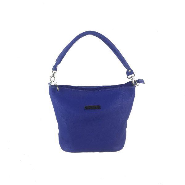 bolso de piel cubo azulon