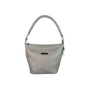 bolso de piel cubo gris claro