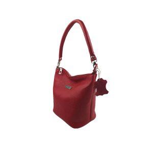 bolso de piel cubo rojo 2