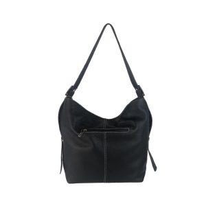 bolso de piel cuco hebilla negro 1