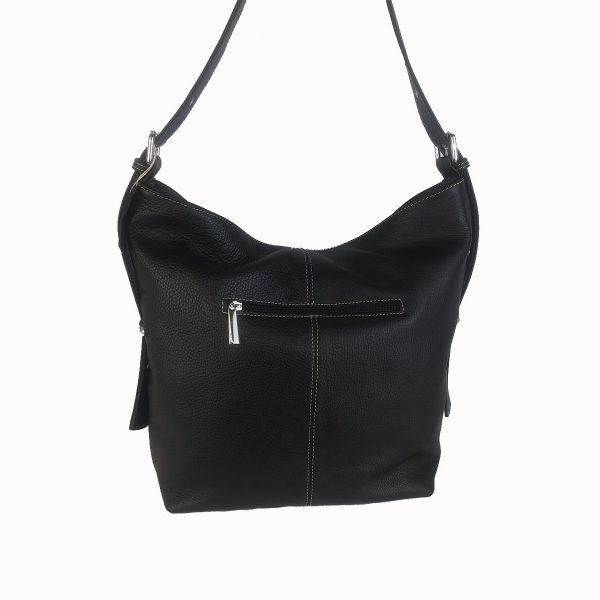 bolso de piel cuco negro 1