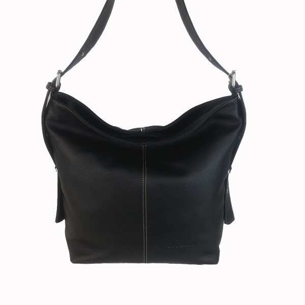 bolso de piel cuco negro