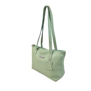 bolso de piel shopping mediano verde agua marina 2