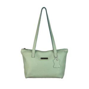 bolso de piel shopping mediano verde agua marina