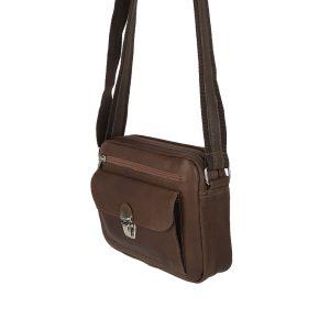 bolso de piel tupi horizontal marron 2