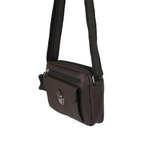 bolso de piel tupi horizontal marron oscuro 2