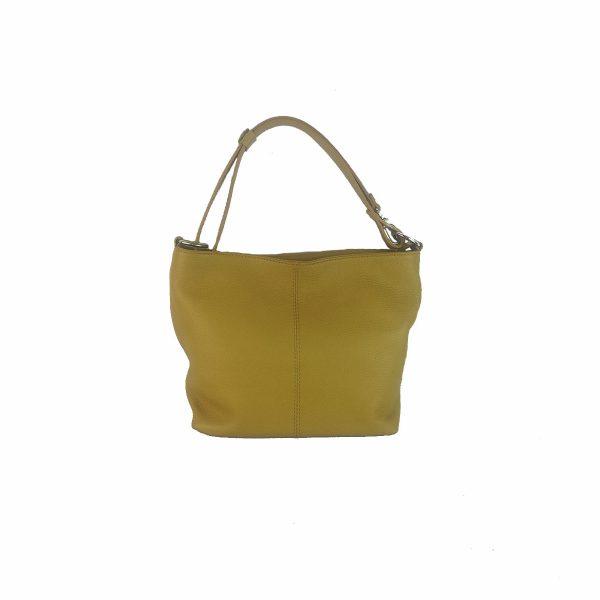 bolso de piel verona amarillo mostaza