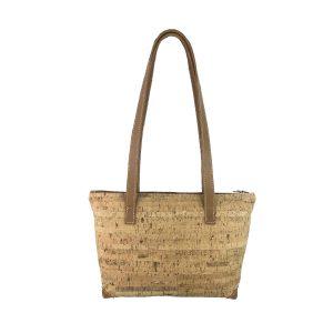 bolso shopping mediano de corcho y piel cuero 1