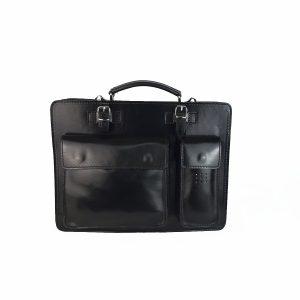 maletin de piel negro mod.satchel grande copia