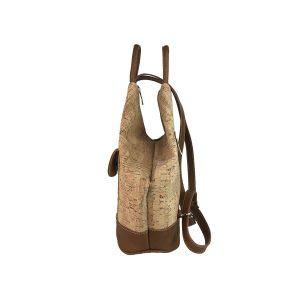 mochila antirrobo bolsillo de corcho y piel cuero 3