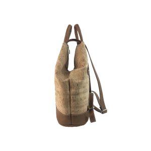 mochila antirrobo de corcho y piel cuero 3