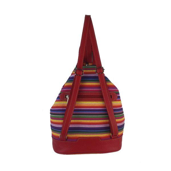 mochila antirrobo rayas roja1