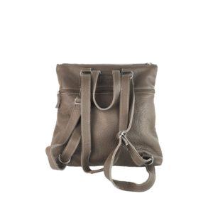 mochila-bolso de piel azul taupe 1