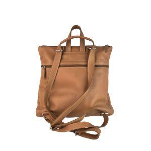 mochila-bolso de piel camel 1