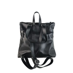 mochila-bolso de piel negra 1