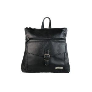 mochila-bolso de piel negra
