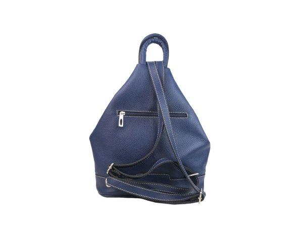 mochila de piel antirrobo azul 1