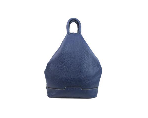 mochila de piel antirrobo azul