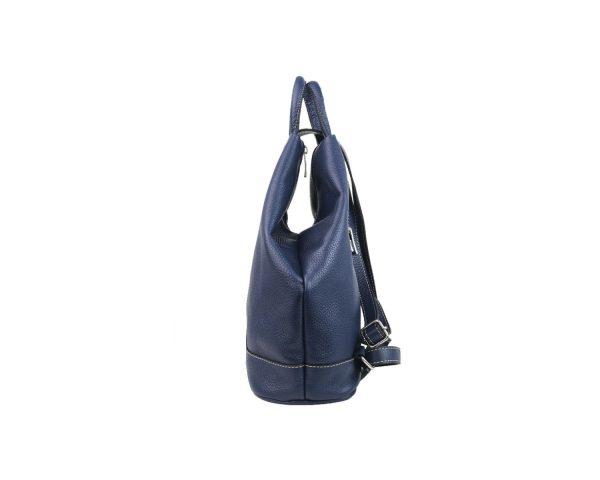 mochila de piel antirrobo azul 2