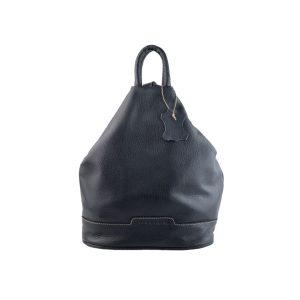 mochila de piel antirrobo azul marino