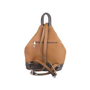 mochila de piel antirrobo bolsillo cuero y marron oscuro 2