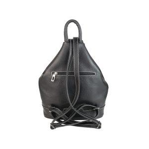 mochila de piel antirrobo bolsillo negra 2